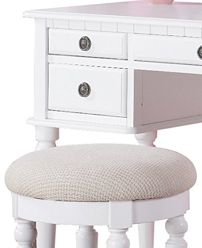 Bobkona F4074 St Croix Collection Vanity Set With Stool