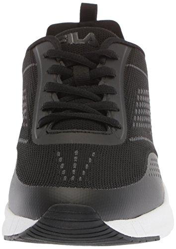 Women's Black Running Shoe Memory Chelsea Fila Knit pq41d