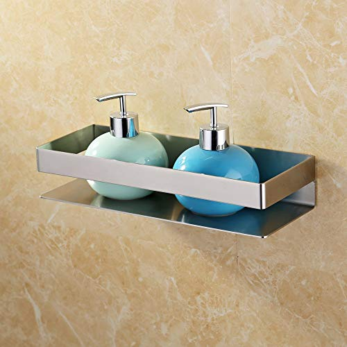 Kes Bathroom Shelf Stainless Steel Bath Shower Shelf Basket Caddy RUSTPROOF Square Modern Style Wall Mounted Brushed Finish, BSC205S30A-2 ()