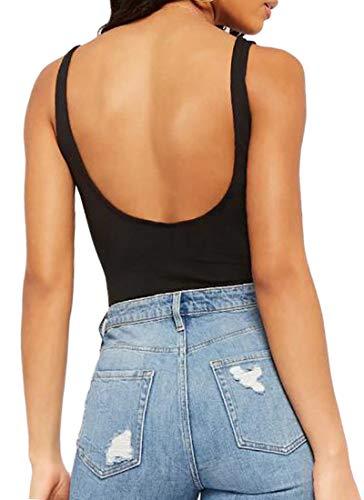Tanbaby Mangopop Women's Backless Bodysuit Jumpsuits (Backless Bodysuits, Large)]()