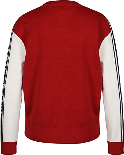 Colorblock Maglione Tommy W Jeans di rosso lana txPP5rwf