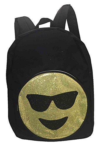 Emoji Glitter Smiley Face Sunglasses Canvas - Smiley Faces Sunglasses With