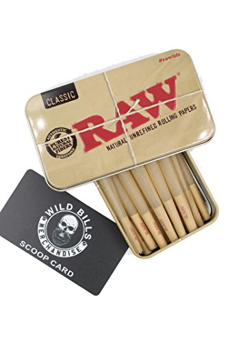 Filled Cones (15 Raw King Size Cones With Raw Tin Carrying Case)