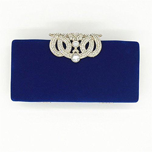 Party Red Prom Hand Women Color Crown Out Blue Evening Clutches Night Purple Bag Lovely Purse Rabbit Rhinestones fw1xPqBxF