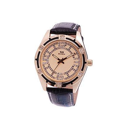 El mundo de la moda de gama alta XM ocasional de los hombres de negocios de diamantes reloj de cuarzo, oro color de rosa: Amazon.es: Relojes