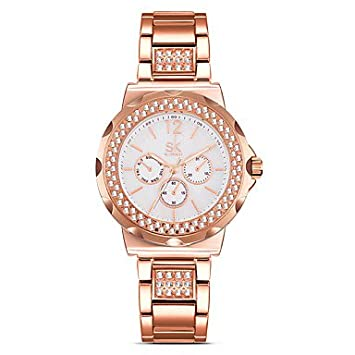 Relojes Hermosos, Aleación de reloj de diamante simulado para mujer Reloj de moda Cuarzo chino