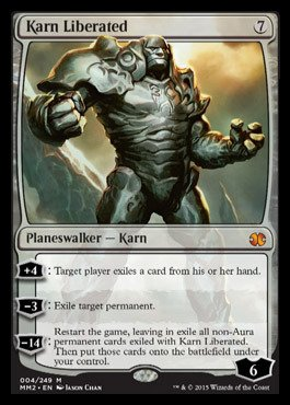 Magic: the Gathering - Karn Liberated (004/249) - Modern Masters 2015 by Magic: the Gathering