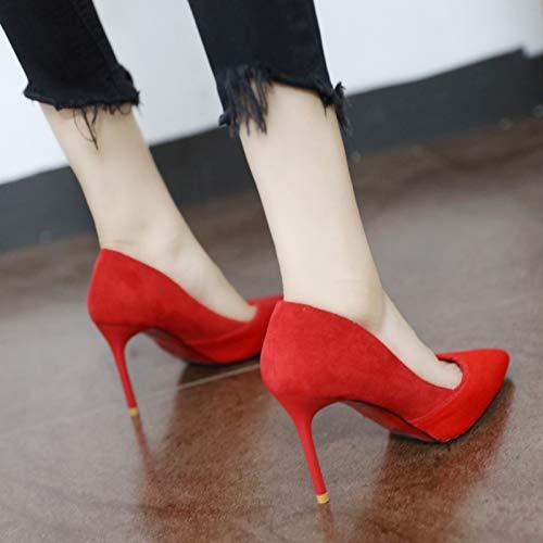 señaló Alto de Solo la Temperamento Europea Zapatos señoras tacón Stiletto Moda Boda Sexy YMFIE Zapatos B 0qEpSx