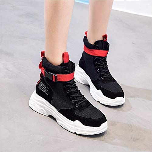 Walking A Light Summer Breathable Shoes hop Spring Sports Hip Fall top Color 36 Trainers Damping B Size Winter Women's High Mesh Boots Park Camping Comfort Sneakers Autumn A0pgR