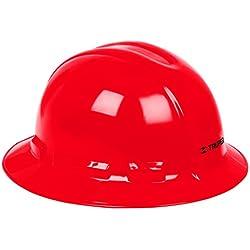 Truper CAS-RX, Casco de seguridad, rojo, ala ancha