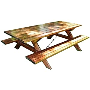 PICNIC TABLE W/ BENCHES Paper Plans SO EASY BEGINNERS LOOK LIKE EXPERTS Build Your Own FAMILY SIZED FOR YOUR YARD Using This Step By Step DIY Patterns by WoodPatternExpert