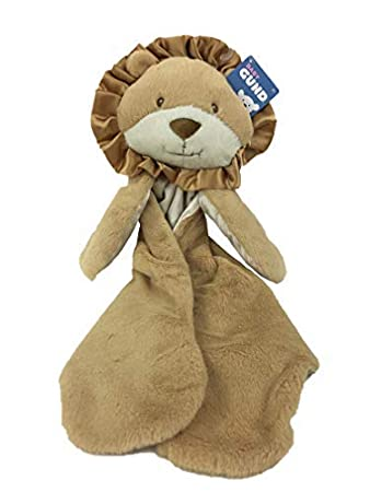 Image Unavailable. Image not available for. Color  GUND Leo Lion Huggybuddy  Plush Baby Blanket ... 049a37fa5