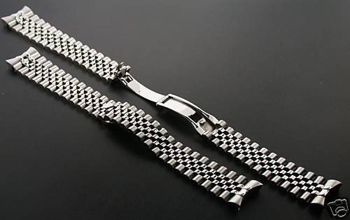 Jubilee Watch Band for Rolex Datejust Hidden Clasp 20mm Ss