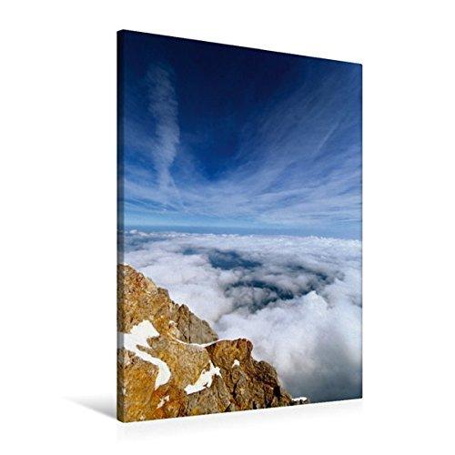 60x90 cm Calvendo Premium Textil-Leinwand 60 cm x 90 cm hoch, Blick von der Zugspitze   Wandbild, Bild auf Keilrahmen, Fertigbild auf echter Leinwand, Leinwanddruck Natur Natur