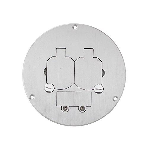 Wiremold Legrand 863DPCOMAL Series Dual Service Floor Box Kit, Duplex Receptacle - Walker Floor Box