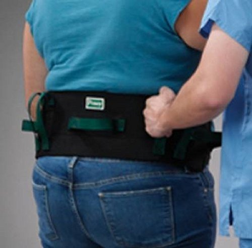 Posey Transfer/Gait Belt, With 7 Handles and Quick-Release Buckle, Fits Waist Sizes: 30
