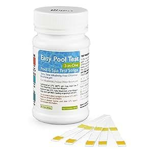 simplexhealth Easy Piscina Prueba 3-in-one, sin cloro ( BROMO ), pH y Total alcalinidad (50 TEST Strips)