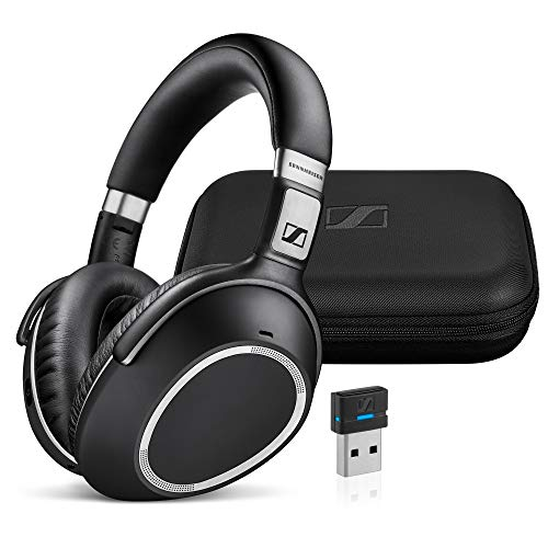 Sennheiser MB 660 MS (507093) - Dual-Sided, Dual-Connectivity, Wireless, Bluetooth, Adaptive ANC Over-Ear Headset | For Desk/Cell Phone & Softphone/PC Connection | Skype for Business Certified (Black)