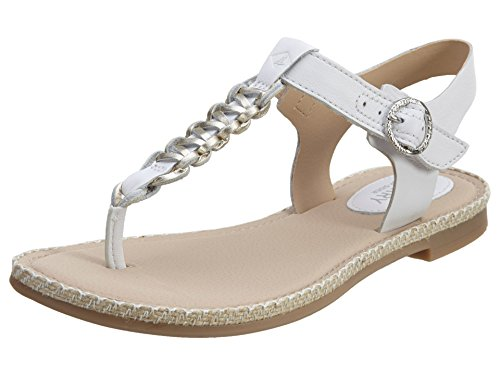 Sperry Top-Sider Women's Anchor Away Thong Sandal,White/Platinum Leather,US 10 M