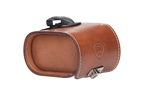 Pure City Leather Bicycle Saddle Bag, Brown