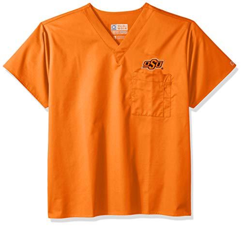 WonderWink Unisex-Adult's Oklahoma State University V-Neck Top, Orange, XL