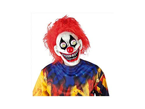 Haunted House – The Clown Mask with Moveable Eyes, Multi-Colour (Rubies S5144) ()