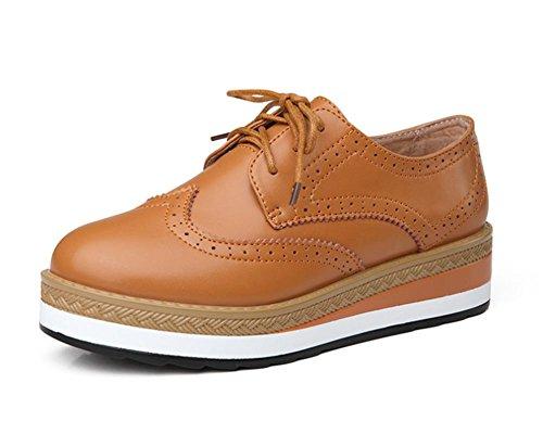 los zapatos del elevador Sra primavera de suela gruesa zapatos planos zapatos casuales individual femenino , US6.5-7 / EU37 / UK4.5-5 / CN37