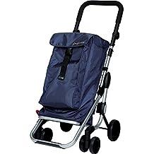 Playmarket Go Up Folding Shopping Cart with Swivel Wheels, Navy