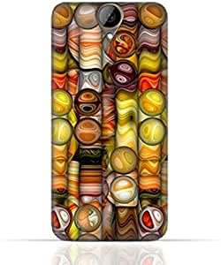 HTC e9 plus TPU Silicone Case with Abstract Bubble Background