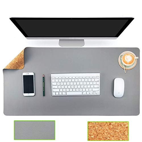 - Aothia Eco-Friendly Natural Cork & Leather Double-Sided Office Desk Mat 31.5