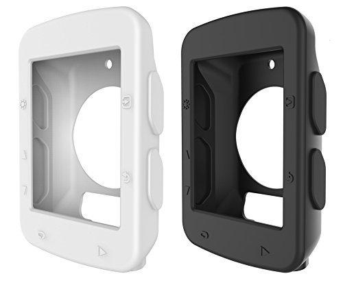BlueBeach 2 PCS Silicone Protective Case Cover for Garmin Edge 520 GPS Bike Computer (Black and White) - Edge Silicone
