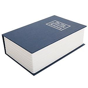 New Blue Dictionary Secret Book Hidden Safe Money Box Home Security Key Lock