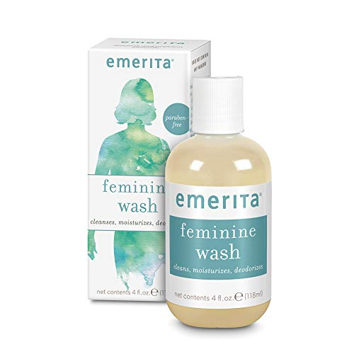 Washes Gently (Emerita Feminine Cleansing & Moisturizing Wash | Gently Cleanses & Deodorizes | Formulated to Help Support Healthy Vaginal pH | Aloe, Chamomile | 4 oz)