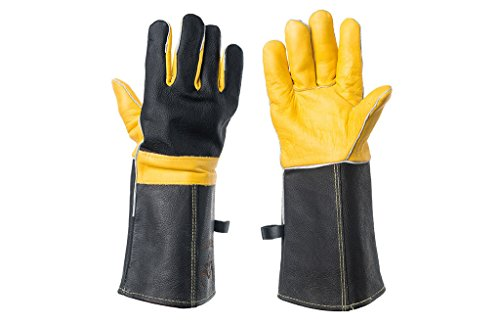 DEFENCES Animal Handling Gloves Bite Proof, Leather Work Gloves Used As BBQ Gloves, Wood Stove Home Improvement Welding Yard Work Kevlar Scratch Bite Resistance Gloves For Dog Cat Bird Snake Reptile by DEFENCES