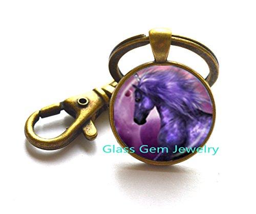 Unicorn Keychain Unicorn Jewelry Keychain Wearable Art Key Ring Charm Photo Key Ring,Q0225