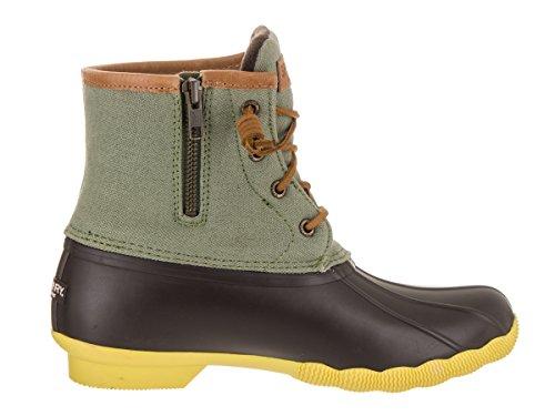 Sperry Top-Sider botas de lluvia de agua salada para las mujeres Brown/Olive/Citrn