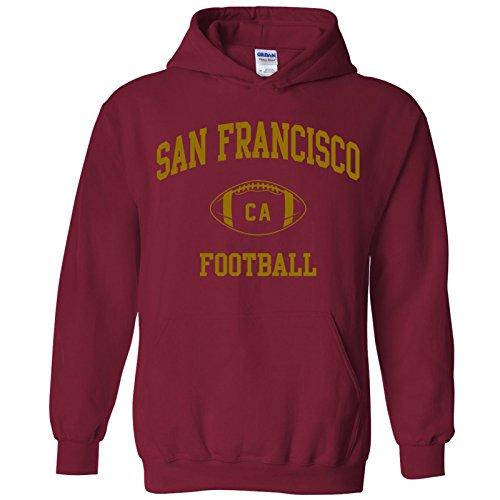 San Francisco Classic Football Arch American Football Team Sports Hoodie - 2X-Large - Cardinal