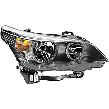 RH Headlight Headlamp Lens Light Cover For BMW E60 E61 525i 530i 550i 2004-2007
