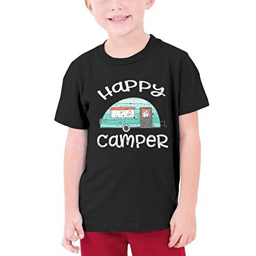 BuecoutesHappy Pikachu Toddler//Infant Short Sleeve Cotton T Shirts Black