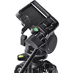 Professional 80-Inch Built in Bubble Leveling, 3-way Panhead with Tilt Motion, Heavy Duty Tripod Extend to 80\