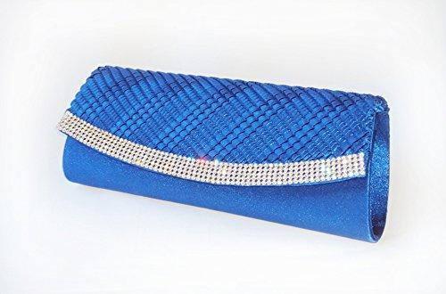 CG brillantissimi cristalli Evening Clutch-Borsa, colore: blu di cinque colori ...