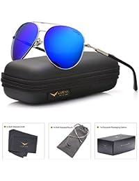 Aviator Sunglasses Mens Womens Polarized Mirror - UV 400 Protection 60mm