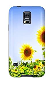 Galaxy S5 Case Cover Attractive Beautiful Sunflowers Case - Eco-friendly Packaging