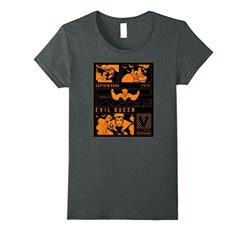 Womens Disney Villains Halloween T Shirt Medium Dark Heather ()