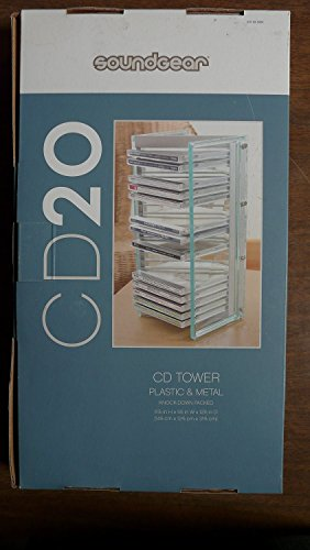 Fantastic Deal! SoundGear CD20 Plastic & Metal Modern Design CD Storage Tower Rack