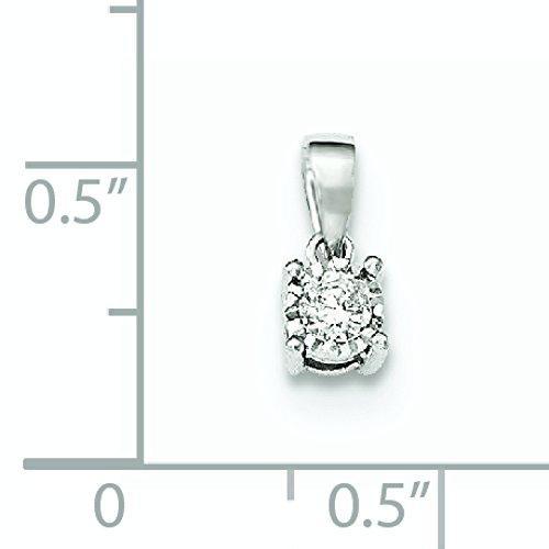14CTT or blanc diamant poli Pendentif