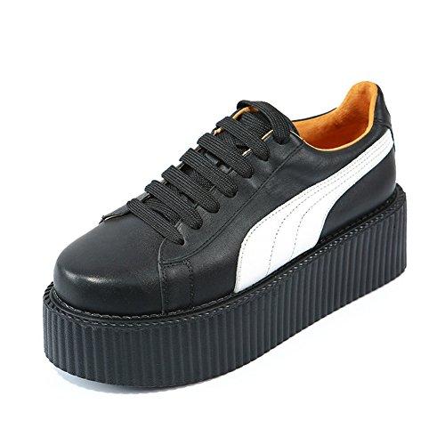 RoseG Damen Flache Plateauschuhe Gote Punk Creepers Schuhe