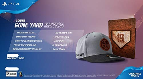 PlayStation 4 MLB The Show 19 Gone Yard Edition - With Limited Edition Steelbook, 9Fifty Hat, And DLC Content