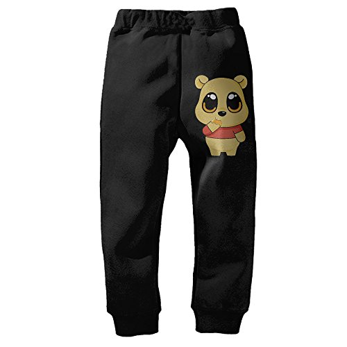 Pooh Sweatpants (Boys Girls Winnie Pooh Bear Cartoon Closed-Bottom Sweatpants 4 Toddler)