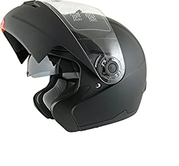 AMX Casco de motocross, color Negro Mate, talla L 59/60 Cm